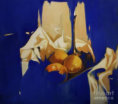 Lin Painting - Stilebenblue by Lin Petershagen