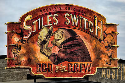 Beer Royalty-Free and Rights-Managed Images - Stiles Switch BBQ by Stephen Stookey