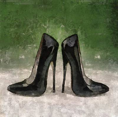 Stilettos Painting - Stiletto Heel Shoes By Mary Bassett by Mary Bassett
