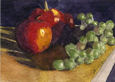 Still Apples Art Print by Lynne Reichhart