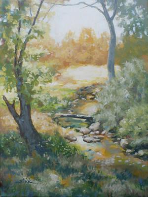 Painting - Still Brook by Carol Strickland