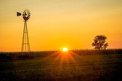 Photograph - Still Country Sunset by Chris Bordeleau