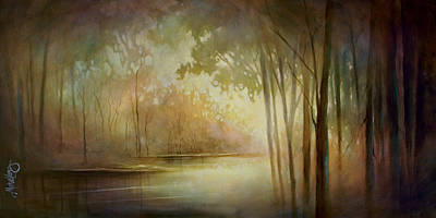 Moody Painting - Still Haven by Michael Lang