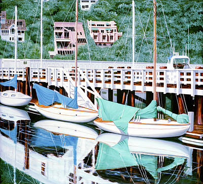 Painting - Still In Sausalito - Prints From My Original Oil Painting by Mary Grden Fine Art Oil Painter Baywood Gallery