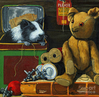 Realistic Photograph - Still Life - Herman Finds A Friend by Linda Apple