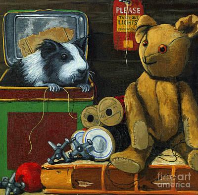 Still Life - Herman Finds A Friend Art Print by Linda Apple