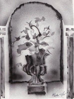 Gladiolas Drawing - Still Life 0505 01a by Henry Mills