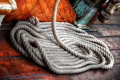 Photograph - Still Life 1  Aboard The Pride Of Baltimore II by Richard Ortolano