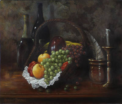 Basket Painting - Still Life 1 by Harvie Brown