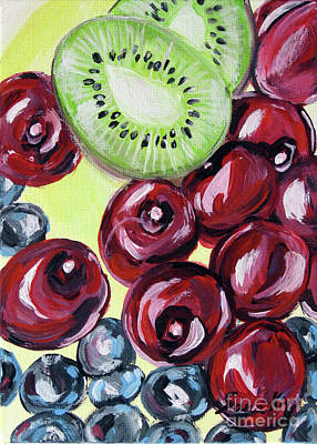 Still Life 130. Cherries Art Print