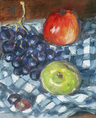 Apple Painting - Still Life 2 by Irek Szelag