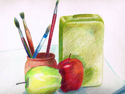 Colored Pencil Painting - Still Life 2 by Zara GDezfuli