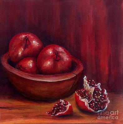 Painting - Still Life #4-pomegranates by Thomas Lupari