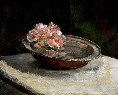 Marble Top Table Painting - Still Life by Abbott Handerson Thayer