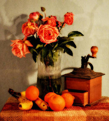 Antique Roses Vase Wall Art - Photograph - Still Life - Aging by Glenn McCarthy Art and Photography