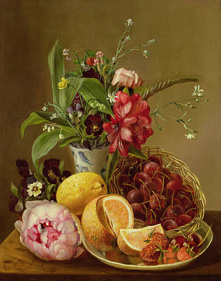 Lemon Painting - Still Life by Albertus Steenberghen