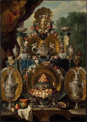 1743 Painting - Still Life by Alexandre Franois