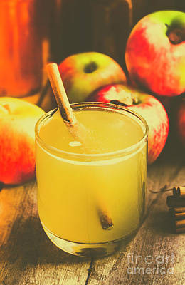 Food And Beverage Royalty-Free and Rights-Managed Images - Still life apple cider beverage by Jorgo Photography - Wall Art Gallery