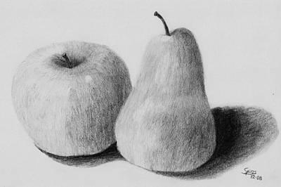 Still Life Apple Pear Art Print by Spiros Antonellos