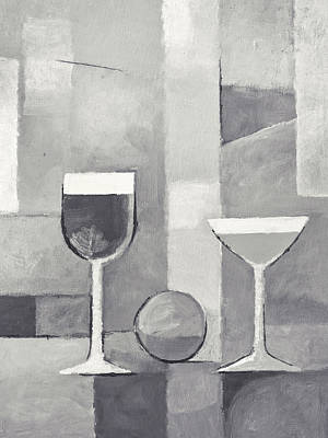 Painting - Still Life Black And White by Lutz Baar