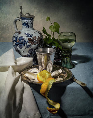 Photograph - Still Life Blue And Lemmon by Levin Rodriguez