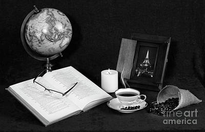 Photograph - Still Life Bw Coffee by Cecil Fuselier
