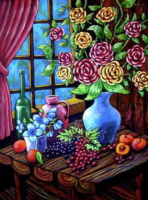 Still Life By The Window Art Print