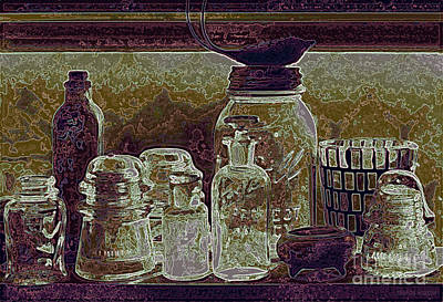 Photograph - still life collection - Glass Ware V by Sharon Hudson