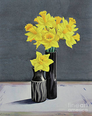 Daffodils Painting - Still Life Daffodils by Christopher Ryland