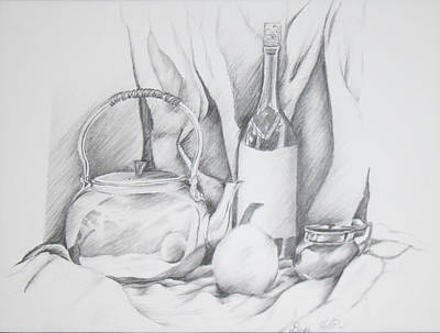 Still Life Drawing Art Print by Dixie Trent