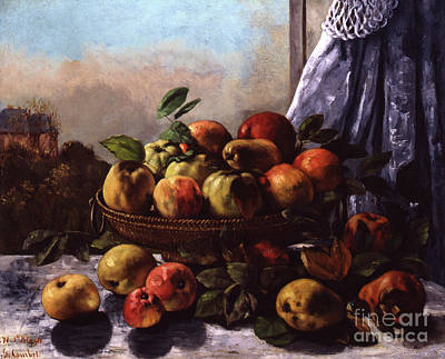 Pantries Painting - Still Life, Fruit, 1871 by Gustave Courbet