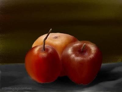 Grapefruit Digital Art - Still-life Fruit Study 1 by Mary Sylvia Hines