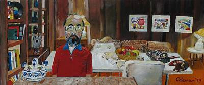 Artist Self Portrait Painting - Still Life by Gary Coleman