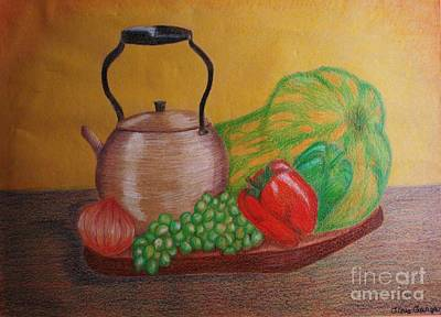 Onion Mixed Media - Still Life by Gilda Womack