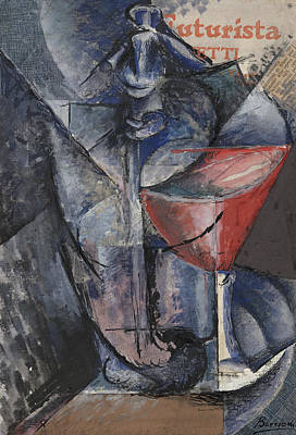 Picasso Mixed Media - Still Life  Glass And Siphon by Umberto Boccioni