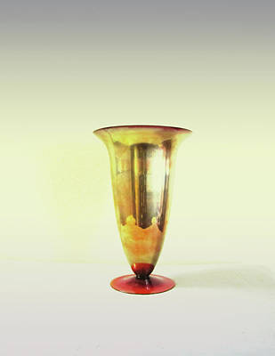 Photograph - Still Life - Golden Vase by Kathleen Grace