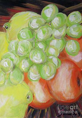 Painting - Still Life. Grapes. Fruits by Oksana Semenchenko