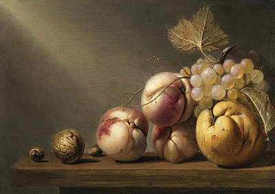 Gourmet Art Painting - Still Life by Harmen Steenwyck