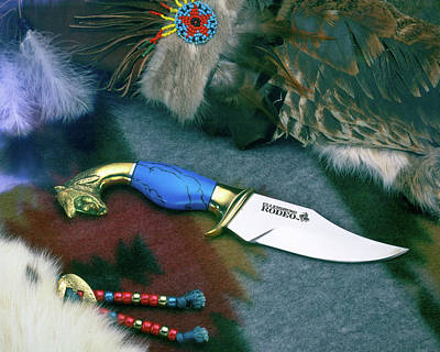 Digital Art - Still Life Hunters Knife by Gary De Capua