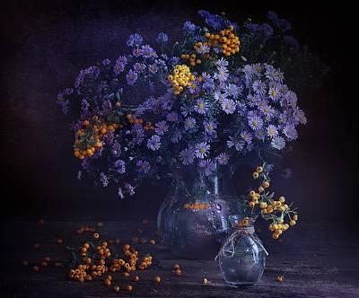 Photograph - Still Life In Lilac Shades by Marina Volodko