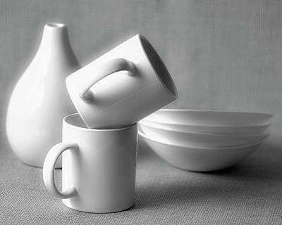 Ceramic Cup Photograph - Still Life In Monochrome by Vishwanath Bhat