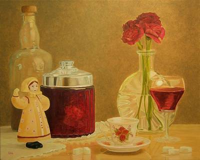 Painting - Still Life In Red by Kathy Lumsden
