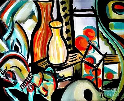 Tangerine Painting - Still Life In Spring by Kat Templeton