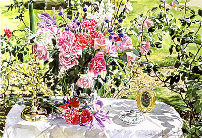 Painting - Still Life In The Artist's Garden by David Lloyd Glover