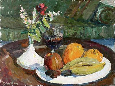 Painting - Still Life In The Hotel by Juliya Zhukova