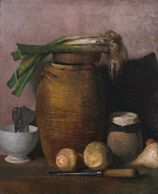 Realistic Painting - Still Life by Jean-Francois Millet