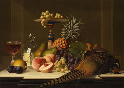 Cognac Painting - Still Life by Johann Wilhelm Preyer