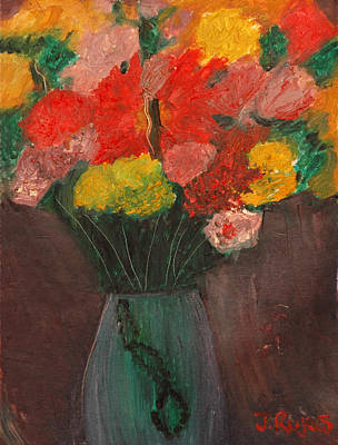Painting - Flowers Still Life by Jose Rojas