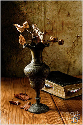 Bookmarks Digital Art - Still Life. Letter As A Bookmark In A Book by Benjamin Gelman