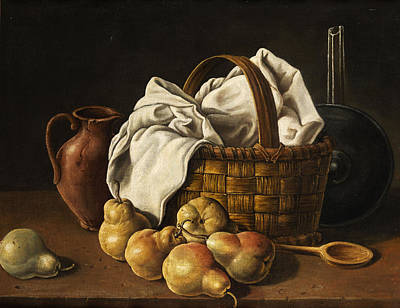 Gourmet Art Painting - Still Life by Luis Melendez